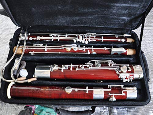 FidgetFidget Prof. Heckel System Silver plated Maple wooden C Bassoon High D E key+LuxuryCase