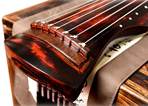 OrientalMusicSanctuary Vermillion Lacquered Aged Paulownia Guqin for Performers