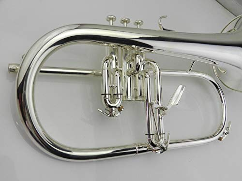 Quality Flugelhorn silver-plated B flat Bb professional trumpet Top musical instruments Brass trompete horn