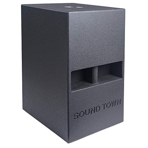 "Sound Town CARME Series 12"" 800W Powered PA/DJ Subwoofer with Folded Horn Design, Black (CARME-112SPW)"