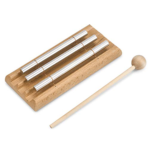 Meditation Trio Chime,Three Tone Solo Percussion Instrument for Prayer, Yoga, Eastern Energy Chime for Meditation and Classroom Use