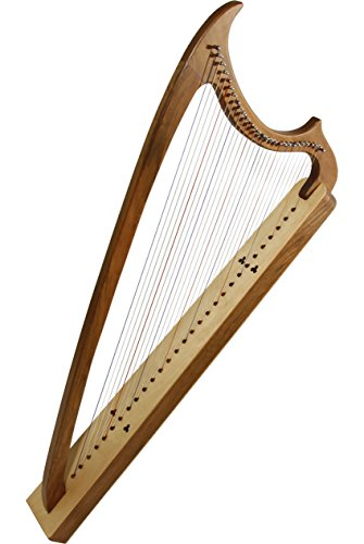 EMS 29-String Gothic Harp – Solid Walnut