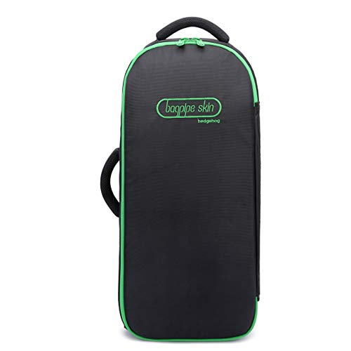 Bagpipe Case – a Stylish and Durable Case, Bagpipe carry case for bagpipe, Bagpipe case Bag (Green Zip)
