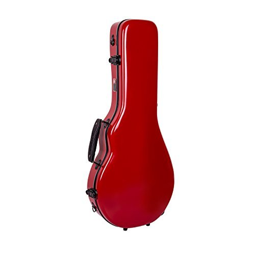 Crossrock CRF1000MAFRD Fiberglass Mandolin Case, Fit for Both F Style & A Style,Red