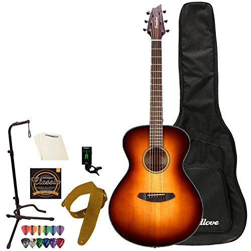 Breedlove Pursuit Series 6-String Concertina E Red Cedar-Mahogany Acoustic-Electric Guitar with ChromaCast 12 Pick Sampler and Polish Cloth, Right Handed(PSCA01ERCMA-KIT-1)