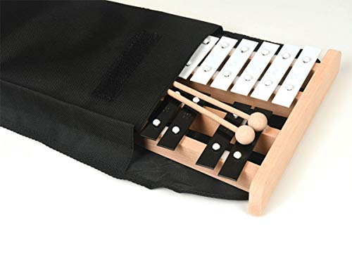 Professional Wooden Soprano Full Size Glockenspiel Xylophone with Cover