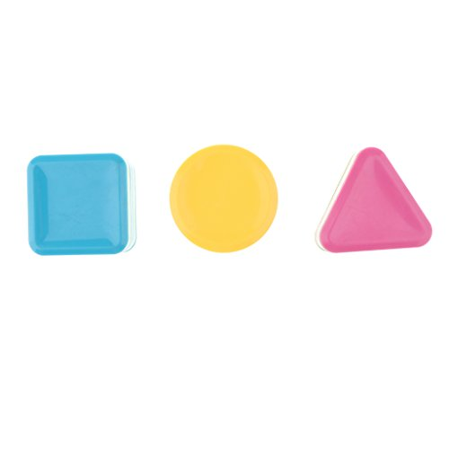 Homyl Colorful Triangle Square Circle Sand Shakers Hand Shaker Toys Handicraft Gift Musical Toys Pack of 3