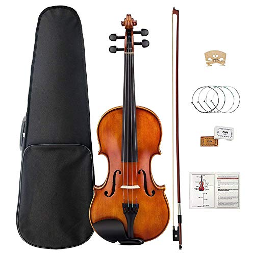 Violin,Professional Violin 4/4 Full-size Hand-made Ebony, Suitable for Professional Students and Beginners, Including Bow, Rosin, Strings, and Case.