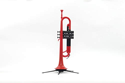 PAMPET Professional Plastic Trumpet Bb trumpet With Lightweight Practice Trumpet Mute Silencer,Trumpet Straight Mute (Red)
