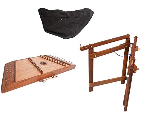Hammered Dulcimer Package Includes: Hammered Dulcimer, 10/9 W/Hammers – Blemished + Hammer Dulcimer Stand + Roosebeck Gig Bag Soft Case For 10/9 Hammered Dulcimer