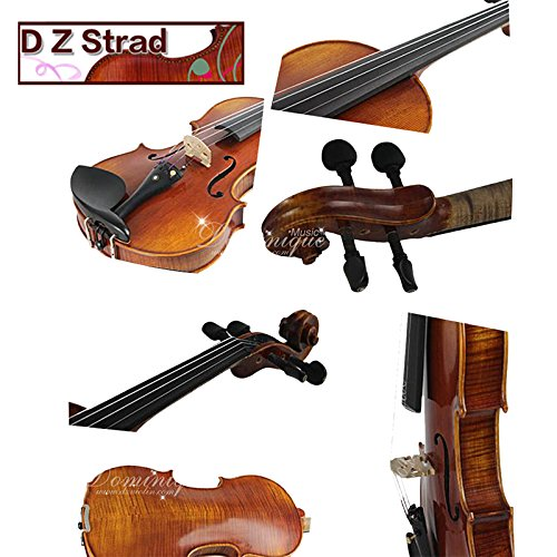 D Z Strad viola Model 120 with Strings, Case, Bow, Shoulder rest, and Rosin-15.5″ (15.5″)