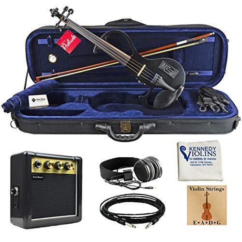 Bunnel EDGE Clearance Electric Violin Outfit Amp Included BE300 (Jet Black)