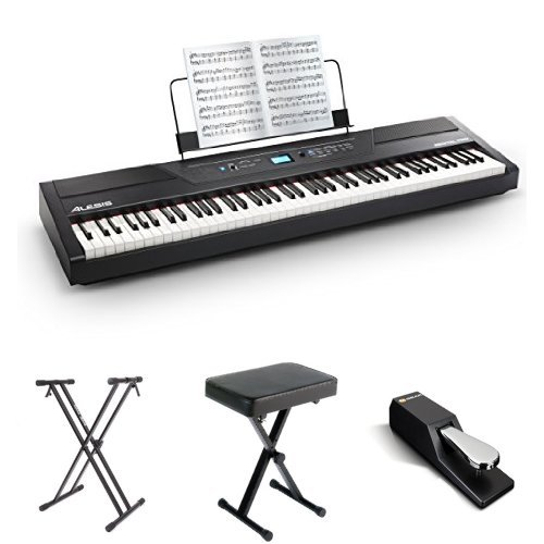 Alesis Recital Pro 88-Key Digital Piano with Padded Seat, Stand, and Sustain Pedal
