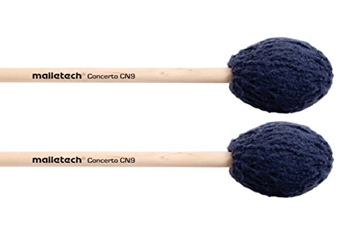 Malletech Concerto Marimba Mallets Set of 4 (2 Matched Pairs) Blue