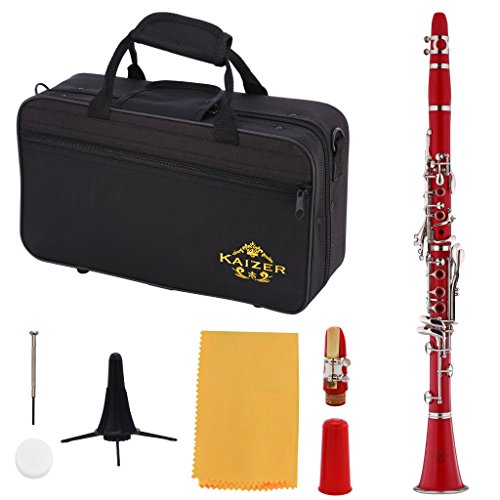 Kaizer Clarinet B Flat Bb Red CLE-1000RD