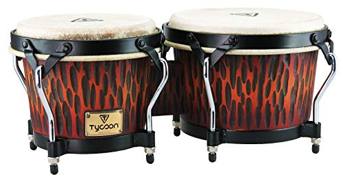 Tycoon Percussion STBS B CO Siam Oak Bongo Drum – Chiseled Orange