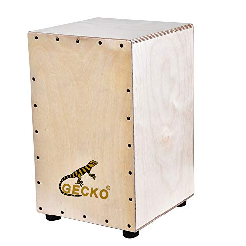 GECKO Wooden Percussion Box Flat Hand Drum Portable Accompanying Musical Instrument