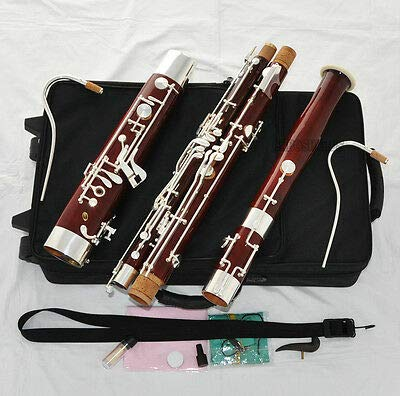 FidgetFidget Professional Old Maple Bassoon Silver Plated key Heckel system High D E New Case
