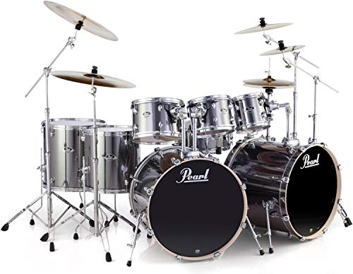 Pearl Export EXX 8-piece Double Bass Drum Set with Hardware – Smokey Chrome