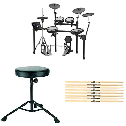 Roland TD-25KV Electronic Drum Kit Bundle with 4 Pairs of Drumsticks and Drum Throne