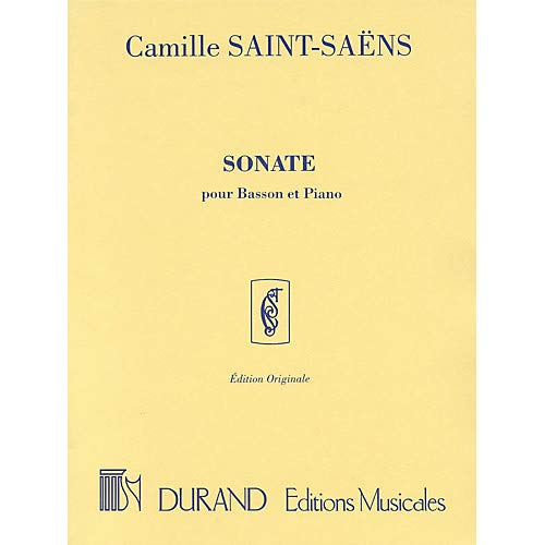 Sonata, Op. 168 (for Bassoon Piano) Editions Durand Series Composed by Camille Saint-Saens Pack of 2