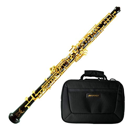 Roffee Professional Performance Level Ebony body Full Automatic Gold Plated Oboe