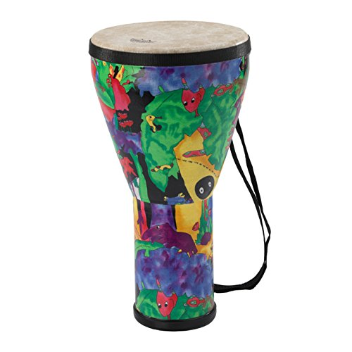 Remo Kid's Percussion 14in Djembe Drum with Rain Forest Design