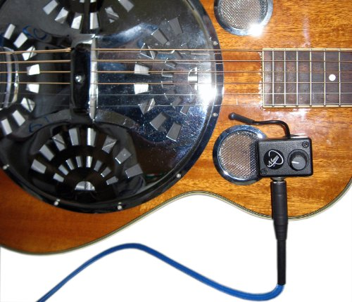 TRICONE METAL BODY RESONATOR GUITAR PICKUP with FLEXIBLE MICRO-GOOSE NECK by Myers Pickups ~ See it in ACTION! Copy and paste: myerspickups.com