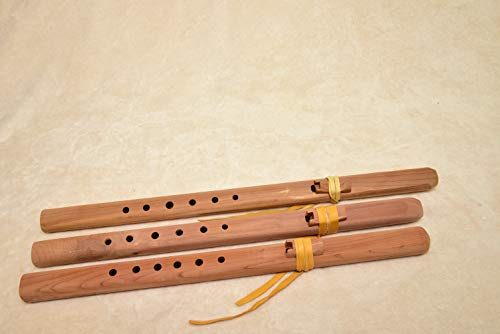 Windpony Unfinished Cedar Flute set – A, G and F#
