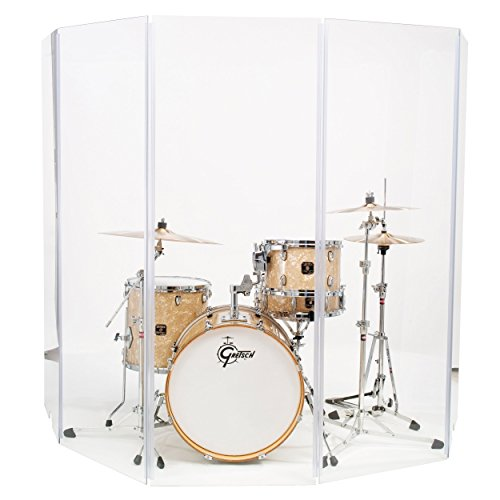 Drum Shield Drum Screen Drum Panels DS6L Six 2ft X 6ft Panels with Living