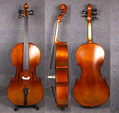 Yinfente 4/4 5 String Cello Acoustic Model Full size Spruce Maple wood Free Cello bow Bag Sweet Sound