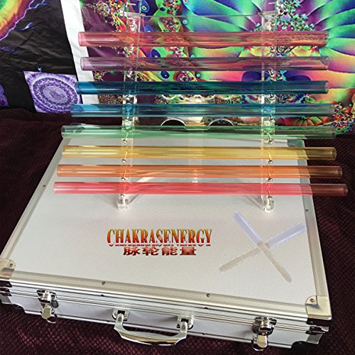 Standard 440HZ Top grade Sound Therapy Colorized Crystal Singing Harp one Set,Perfect Musical Tone CDEFGABC with Free Alumina Carrying Box,2 pcs free crystal mallets and 1 pcs rubber mallet.