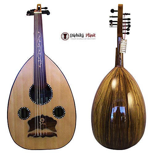 "El-masry Professional Egyptian Oud Lute""The Egyptian Sphinx"" Cat#M77 with Professional Case"