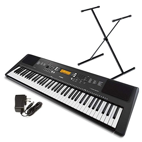 Yamaha PSR-EW300 SA 76-Key Portable Keyboard Bundle with Stand and Power Supply (Certified Refurbished)