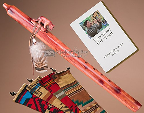 Native American Cedar Flute Pack -Mt. Lion & Bag