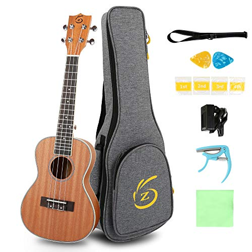 Ukulele Kit Soprano Ukulele 23inch Concert Ukelele Instrument All In One Kit (23inch)