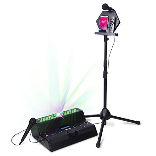 Singsation Karaoke Machine – Mainstage All-In-One Premium Karaoke Party System w/Vocal, Sound and Light Effects, Two Microphones and Sound System