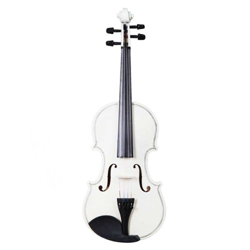 Teekland New 4/4 Natural Acoustic Violin & Case & Bow & Rosin for Violin Beginner (white)