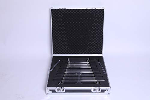 432 Hz Perfect 8 Tubes Notes Quartz Crystal Singing Harp with Free Alumina Carry Case