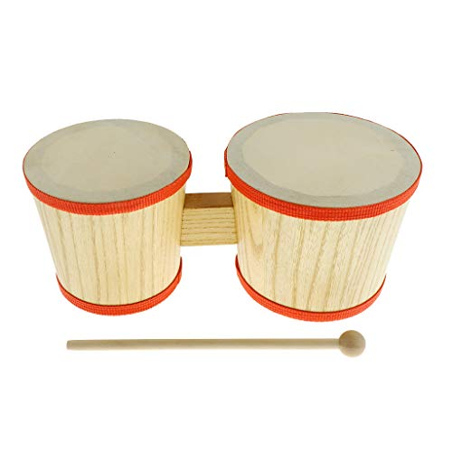 Flameer Children Hand Percussion Toys Bongo Drum with Drum Hammer Mallet Set
