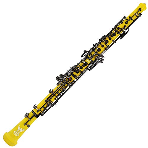 Roffee Professional Performance Level Yellow ABS Body Black Nickel Plated Semi Automatic Oboe
