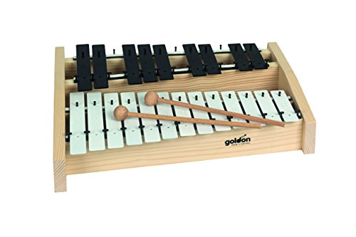 Goldon 11130 Sound Plates Alto Metallophone – White/Black