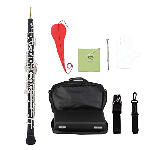 Festnight Oboe, C Key Semi-automatic Oboe Woodwind Instrument with Accessories