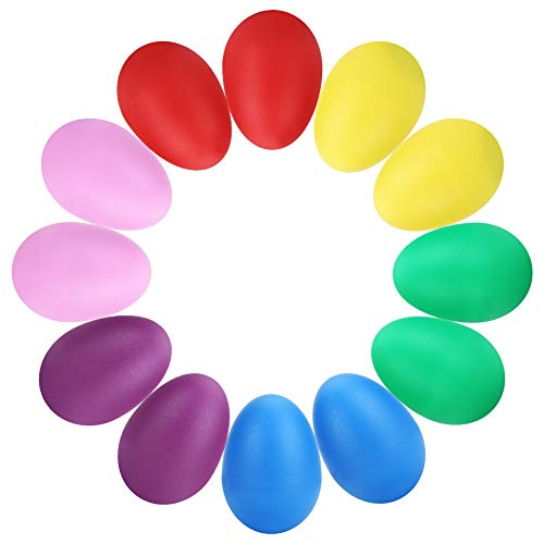 Accmor 12 pcs Plastic Egg Shakers, Percussion Musical Egg, Musical Eggs Maracas Kids Toys.
