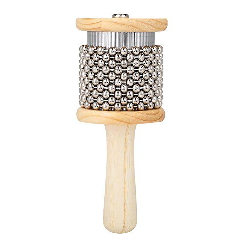 Wooden Cabasa, Wooden Hand Shaker Cabasa Percussion Instrument Small Size for Student Children Kids