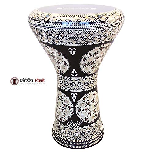 "Gawharet El Fan 17″ Mother of Pearl Darbuka""Maharajah"" Darbuka Drum Percussion"