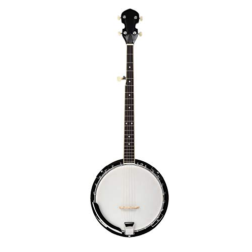 LAGRIMA 5 String Banjo 24 Bracket with Closed Solid Back and Geared 5th Tuner for Beginner and Kids