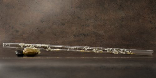 Hall Crystal Flute 12201 – Inline Glass Flute in D – White Lily