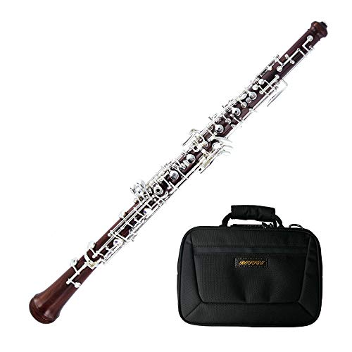 Roffee Professional Performance Level Redwood Body Silver Plated Semi Automatic Oboe