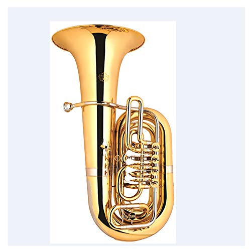 horn trumpet gold color 3 keys 4 keys Bb tuba